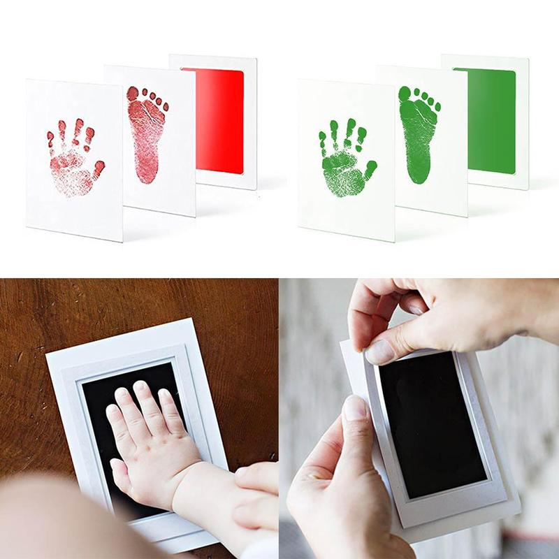 Newborn Baby Handprint Footprint Pad Safe Non-toxic Clean Ink Pad Photo Easy To Operate Hand Foot Print Pad YJG1446