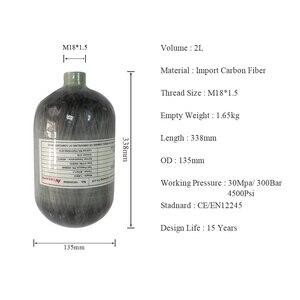 Image 2 - AC5020 Acecare 2L 300Bar Carbon Faser/Composite/Paintball Zylinder/Tank Für Regler Verwendet PCP Luftgewehr/Condor barrel Airsoft