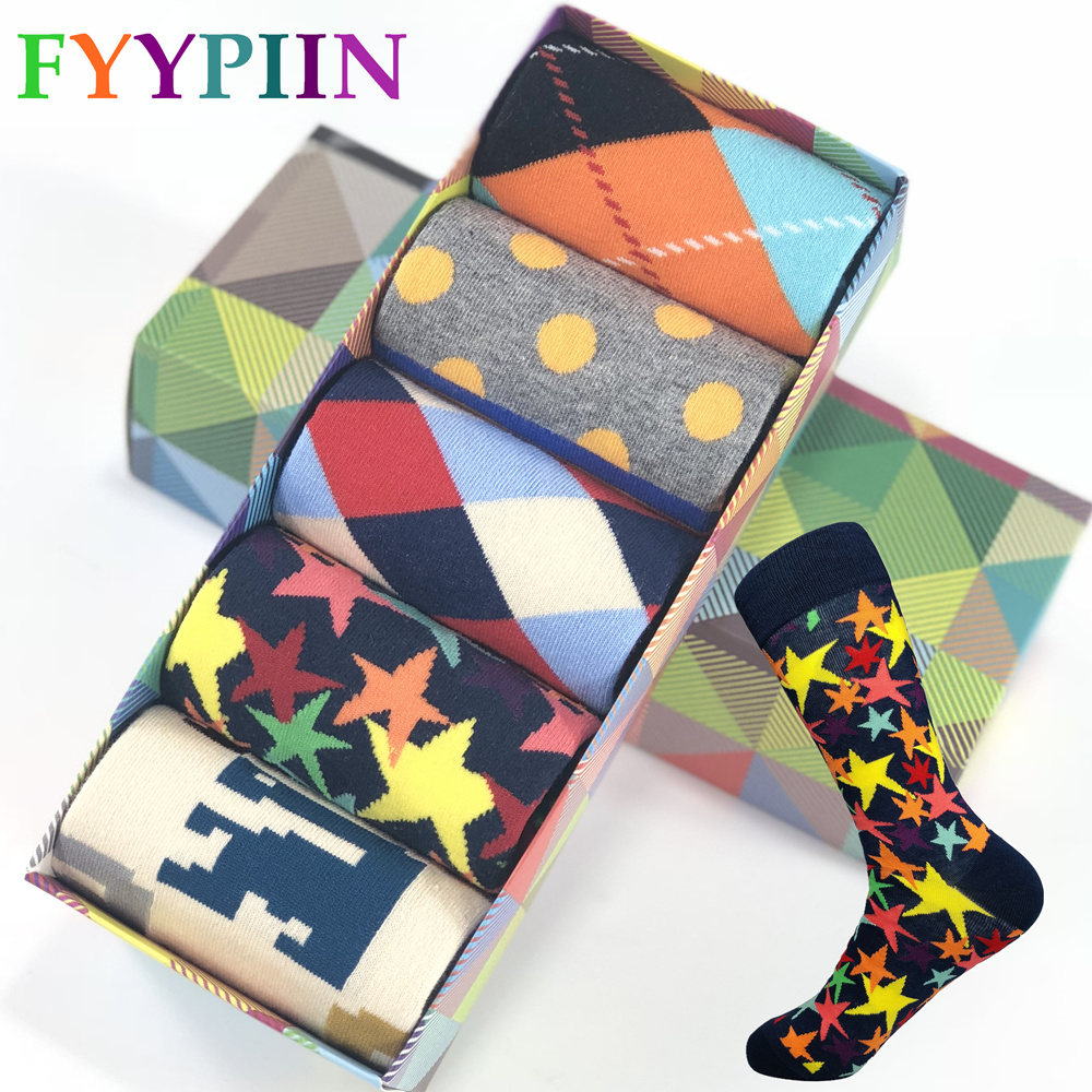 2020 Cotton Socks Men Hot Sale Standard Casual People 5 Pairs Of Package/batch Publish Quality Sock Qiu Dong Men/cotton No Box