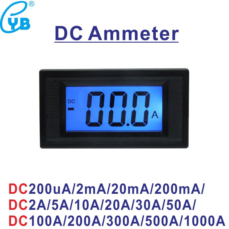 Persevering Yb5135d Lcd Digital Dc Current Meter Dc 200ma 2a 5a 10a 20a 50a 100a 200a 300a 500a 1000a Ammeter Amp Panel Meter Micro Ammeter Aesthetic Appearance Measurement & Analysis Instruments