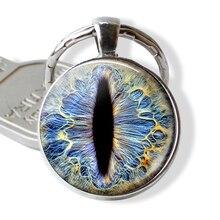 Frost Dragon Eye полимерный брелок, Dragon Jewelry, Dragon Keyring, шарм, кабошон, стекло, подарок, дракон, брелок, кольцо