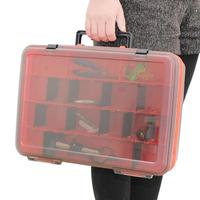 Portable Outdoor Fishing Storage Box Lure Bait Hooks Tackle Tool Container 2 Sides Plastic Case Organizer