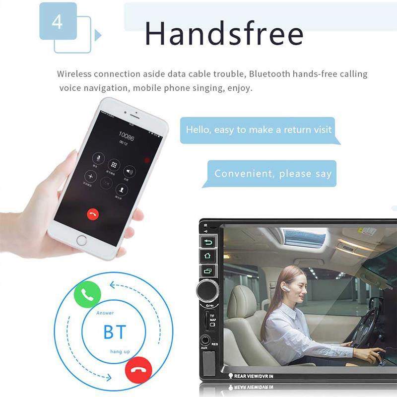 Lecteur autoradio Auto lecteur MP3 Radio Bluetooth GPS Navigation voiture stéréo entièrement capacitif écran tactile pour Android 8.1 - 5