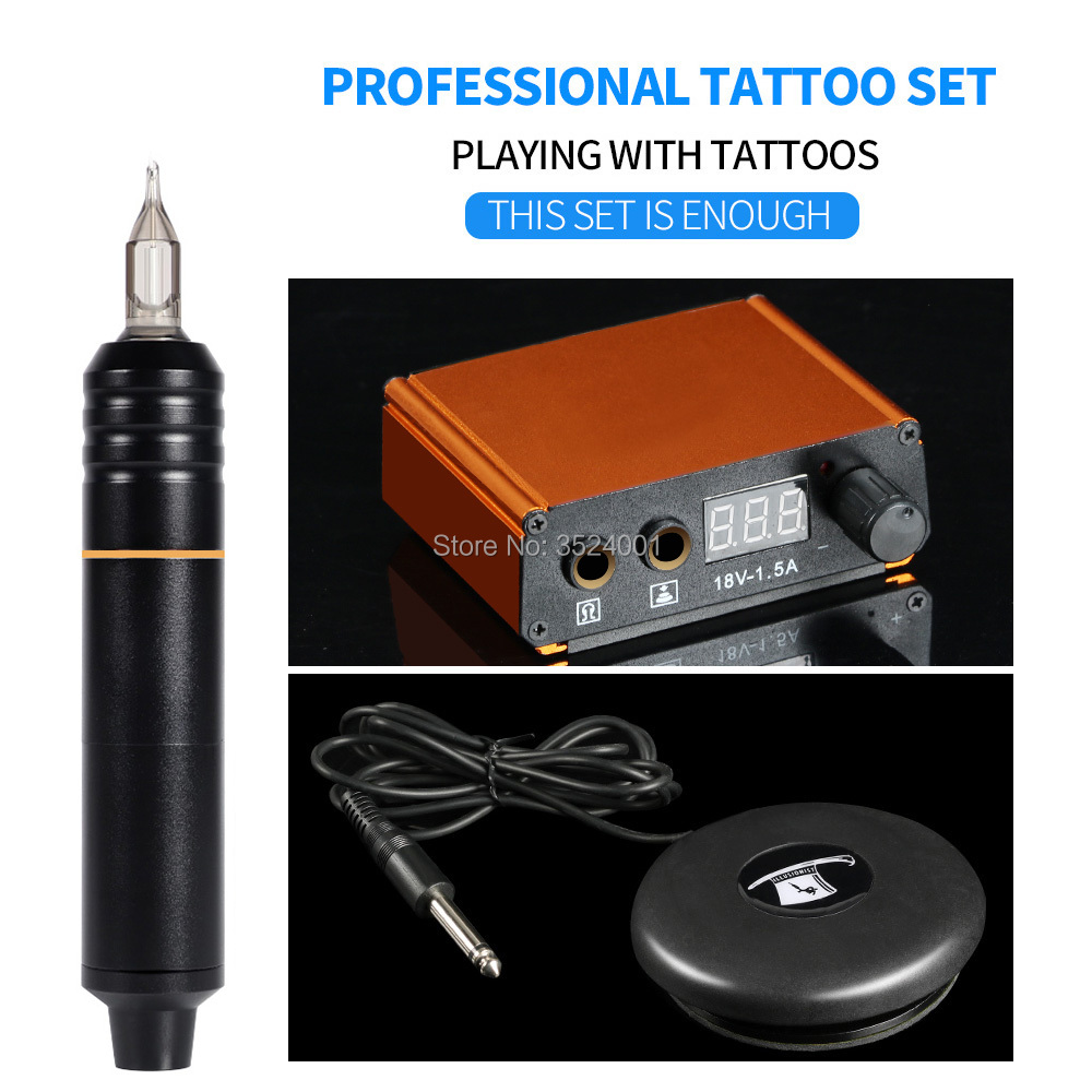 Professional Rotary Tattoo Machine Motor Pen Tattoo Microblading Pen With LED Power Magician Foot Pedal Tattoo KitsProfessional Rotary Tattoo Machine Motor Pen Tattoo Microblading Pen With LED Power Magician Foot Pedal Tattoo Kits