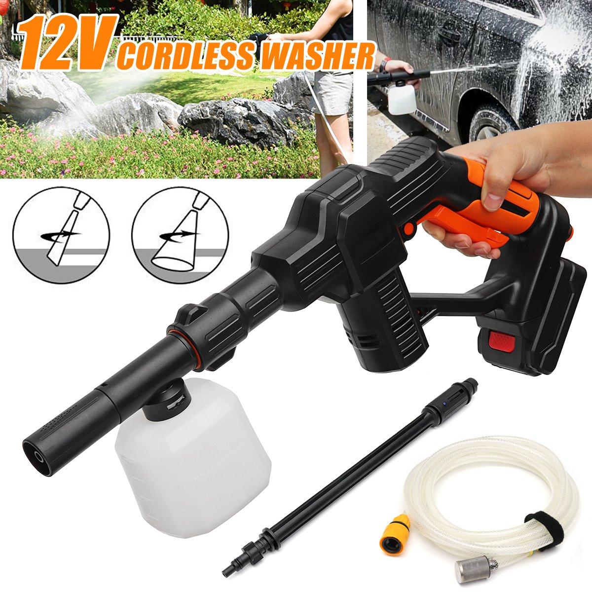 130PSI Spray de Alta Pressão Carro máquina de Lavar de Água Sem Fio-Gun Pulverizador Spray Limpador de Espuma Lance + 5 m Mangueira Para carro Para Casa de Limpeza de Jardim