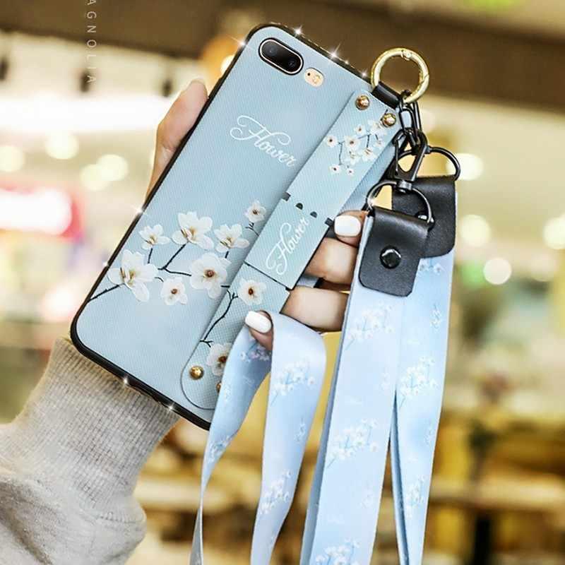 Ювелирный чехол с шейным ремешком для iPhone 11 pro max XS MAX XR XS X чехол с держателем на запястье для iPhone 7 8 plus 7 8 6s 6 plus