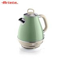 Чайник Ariete Vintage 2869/04 зеленый, стильный ретродизайн, объем 1,7 литра, поворот на 360 градусов, фильтр против накипи, индикатор уровня воды