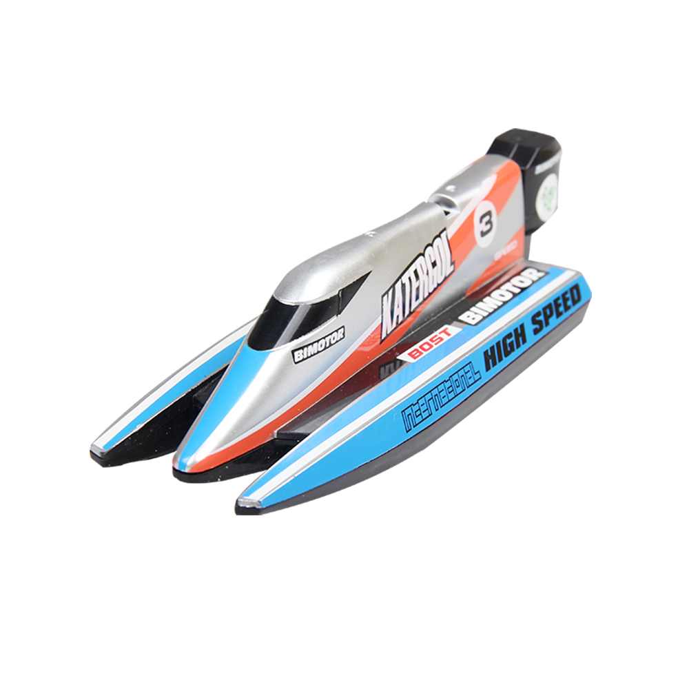 Mini Remote Control Boat 3313M F1 Racing Boat 2.4G Plastic Mini Size RC Boats Fit For Out Door Indoor Playing Kids Water Toy image