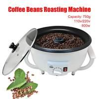 220V Electric Coffee Beans Roaster Machine Peanut Roasting Machine Artifact Coffee Bean Baking Bakeware Machine Household Drying