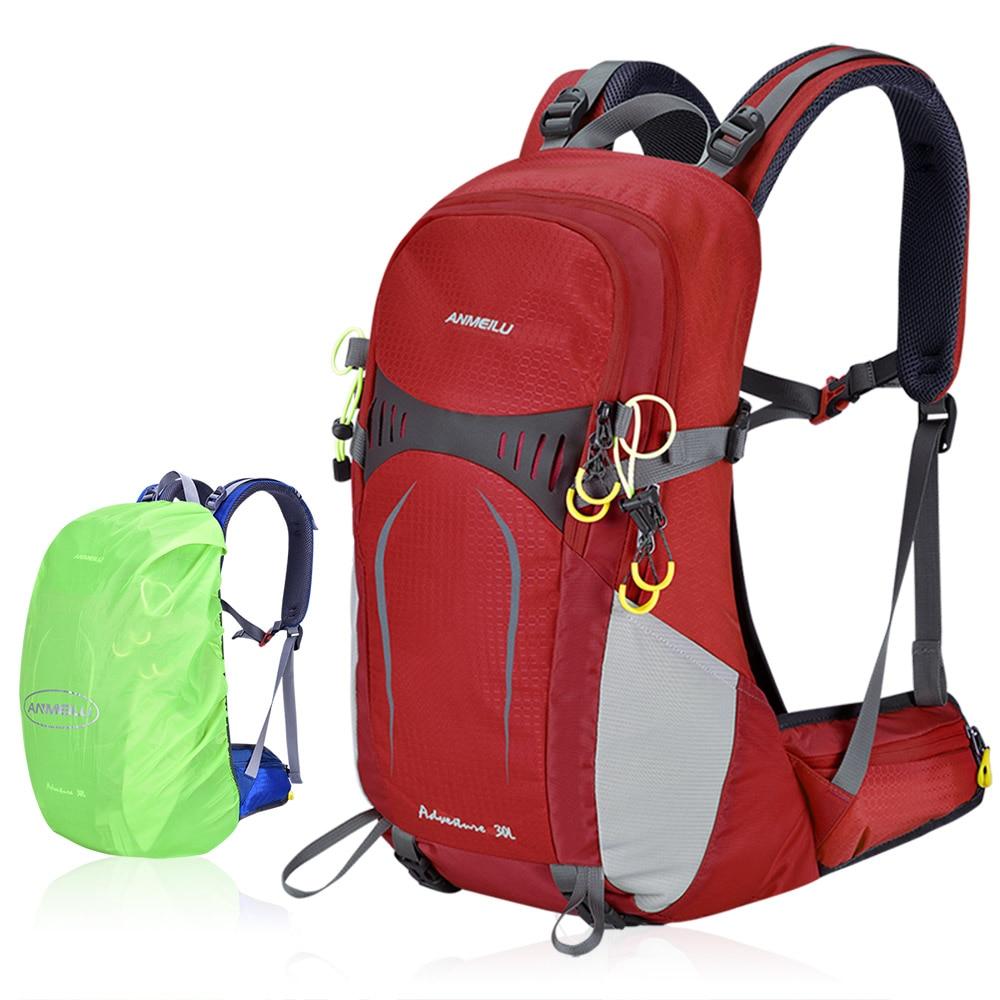 Sac à dos de randonnée 30L avec cadre interne imperméable léger sac de voyage de Sport en plein air sac de randonnée escalade avec couverture de pluie
