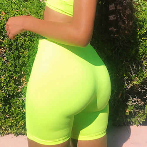 Vrouwen Hoge Taille Fitness Sport Biker Shorts Zomer Jogging Strand Atletische Casual Skinny Zachte Elastische Stretchy Solid Shorts