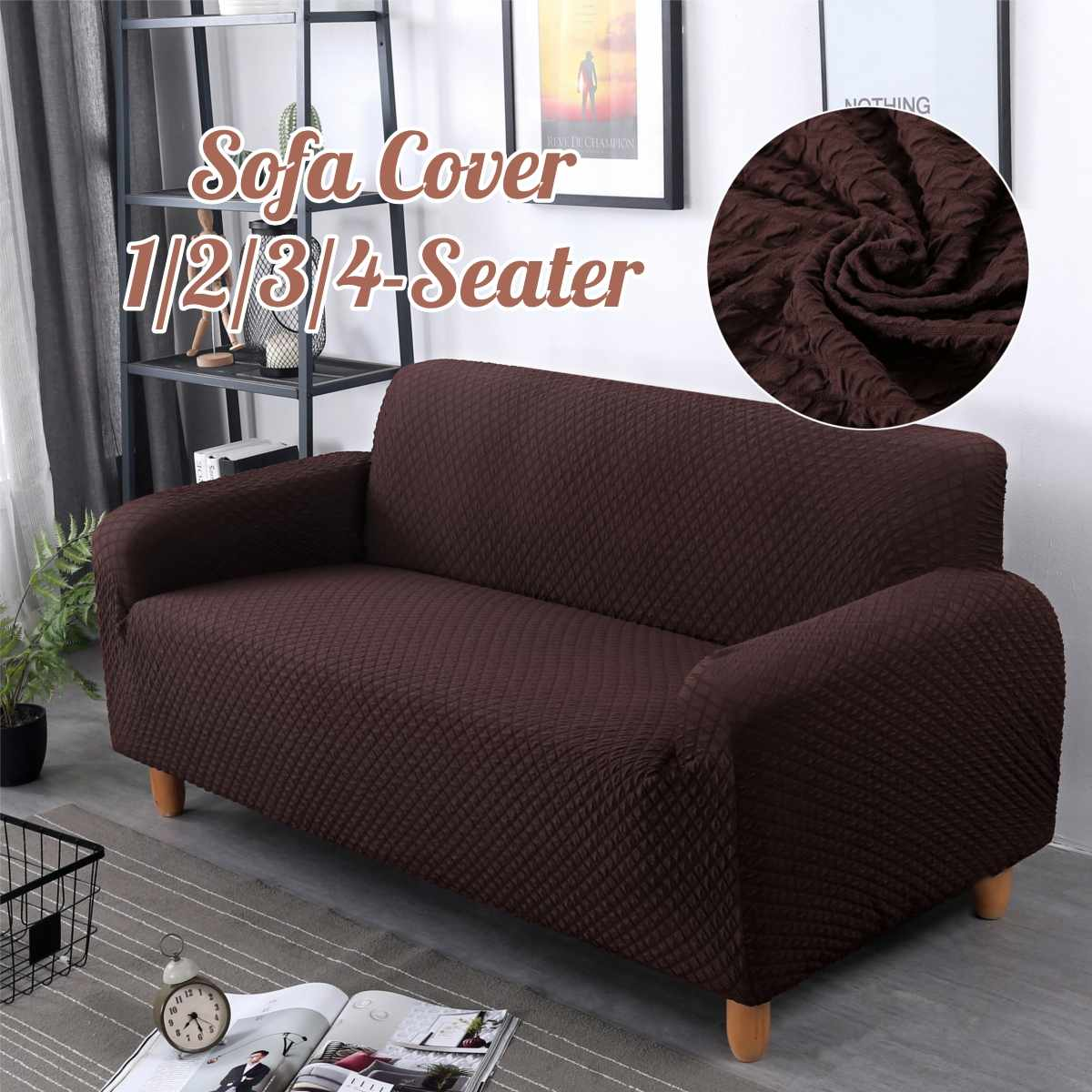 Japan Home Sofa Us 4 92 31 Off Japanese Solid Spandex Knitting Slipcover Sofa Non Slip Elastic Full Sofa Cover 1 2 3 4 Seater Stretch Pillow Case Chair Covers In