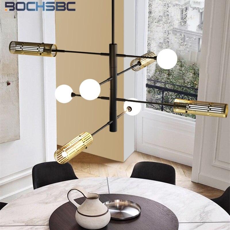 BOCHSBC белый стеклянный шар покрытый современный подвесной светильник декор в стиле «Лофт бар» Lustre Hanglamp освещение в простом стиле Ins Modo DNA Lights