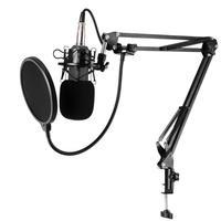 VODOOL BM800 Professional Condenser Microphone 3.5mm Wired Audio Studio Vocal Recording Music KTV Karaoke Live Mic For PC Laptop