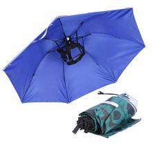 Pieghevole Testa Ombrello Cappello Anti-Pioggia Anti-Uv All aperto  Cappellini da pesca Portatile Da Viaggio Spiaggia Escursionis. cf463a0ddbf8