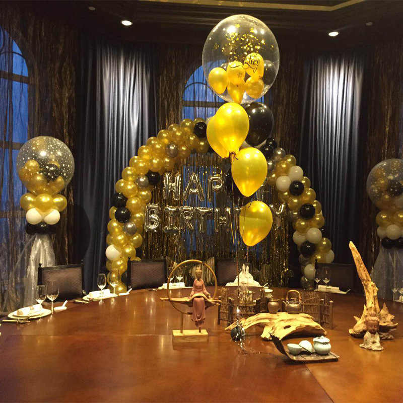 10pcs/lot 2.8g 12inch Pearl Gold Silver Black Latex Balloons Birthday  Wedding Party Decor Air Helium Globos Kids Gifts Supplies