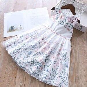 Image 2 - Doğum günü elbise kızlar parti elbise bebek frocks çiçek yaz okulu pamuk çocuk giyim kız giyim çocuk kıyafeti