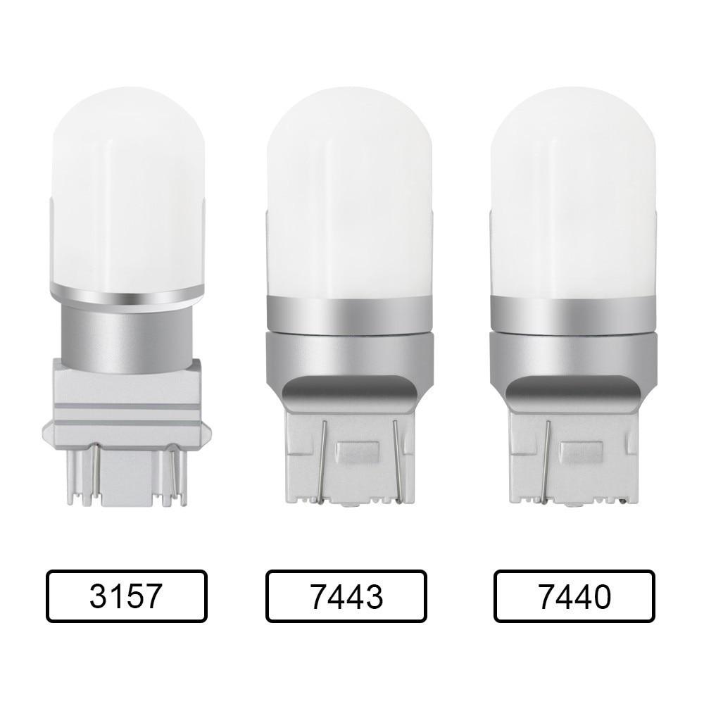 1 Piece T20 W21W W21/5W WY21W 7440 7443 LED Bulb T25 3157 3156 1156 1157 Car Brake Reverse Light 12V 24V Lamp Turn Signal