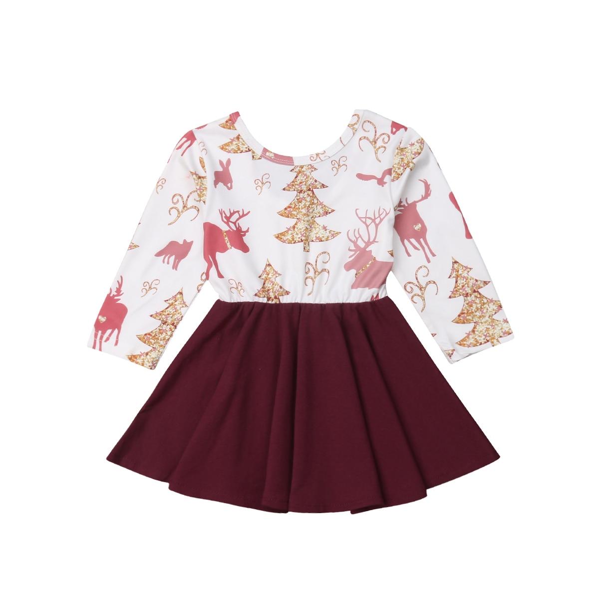 2019 Happy New Year Toddler Baby Girls Kids Princess Christmas Dress -4407