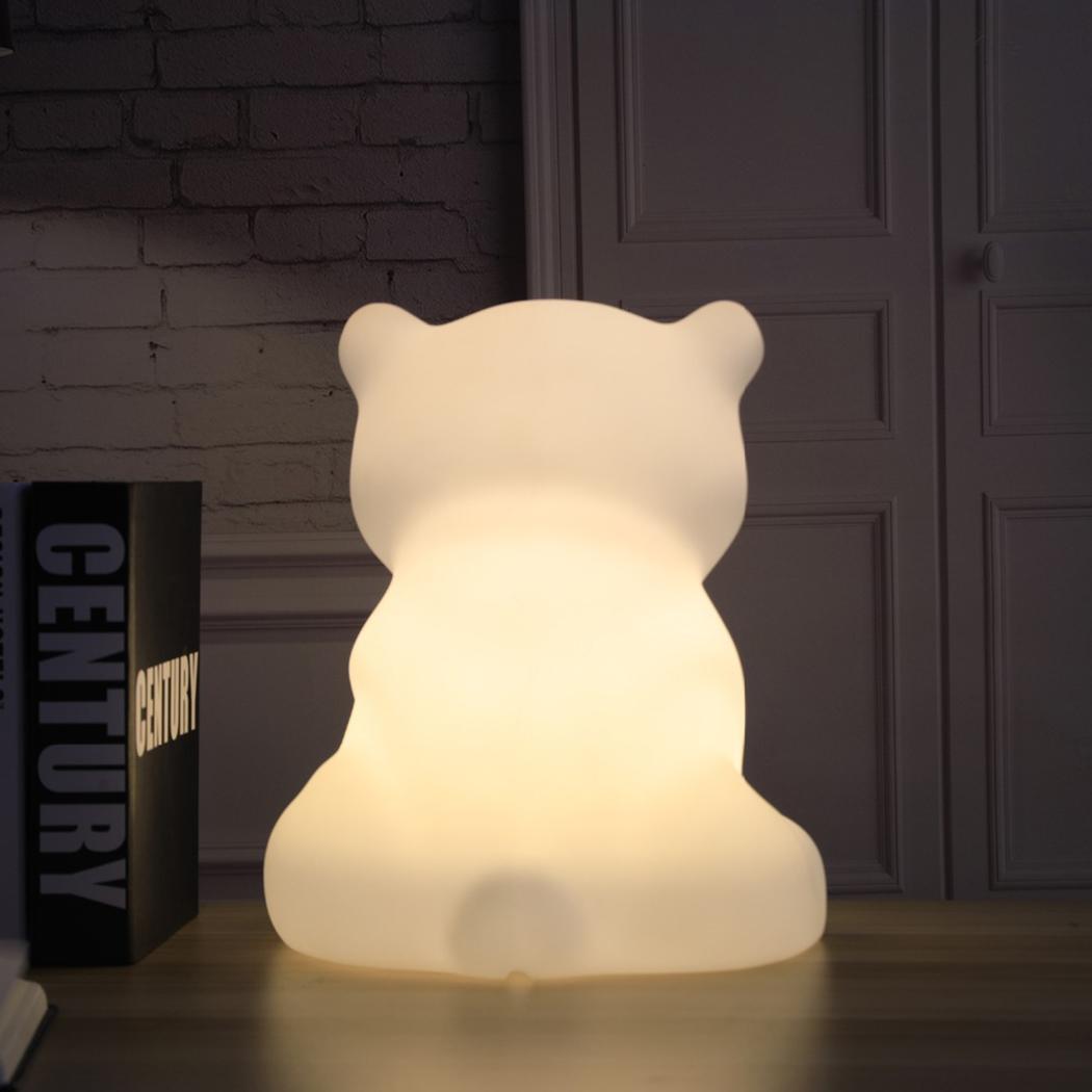 Children LED Night Light Dimmable Kids Cartoon 100 240V White light Polar Bear Shape 5W Decorative Lamp - 6