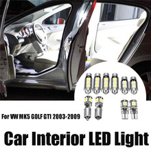 10 Pcs/Set White Canbus LED Interior Light Bulb Package Kit For VW MK5 GOLF GTI 03-09