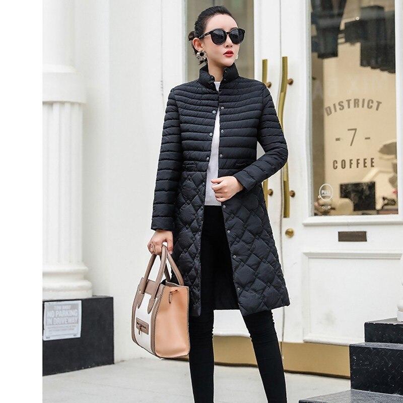 Essayer Tout Long manteau d'hiver femmes Noir Oversize Parka Femmes D'hiver 2019 Automne Long Vestes Pour L'hiver Dames Manteaux 3XL