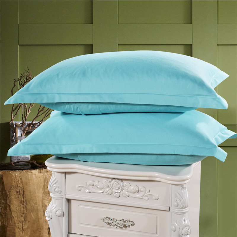 Light Blue Color Pillow Cases Solid Color 100% Polyester Pillowcases Brief Style Pillow Case Cover 1 Piece 48cm*74cm XF336-8