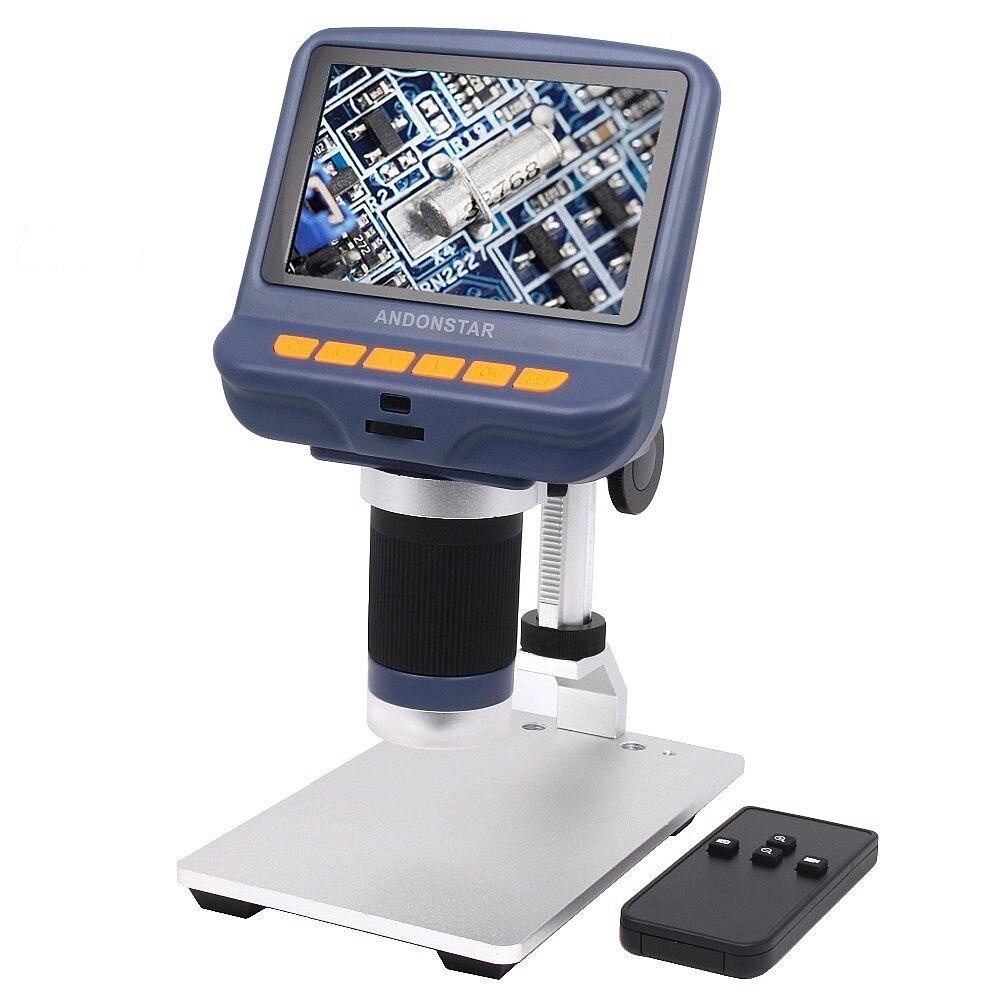 Andonstar AD106 microscopio Digital 4,3 pulgadas 1080 p HD Sensor USB microscopio para la reparación del teléfono con Control remoto
