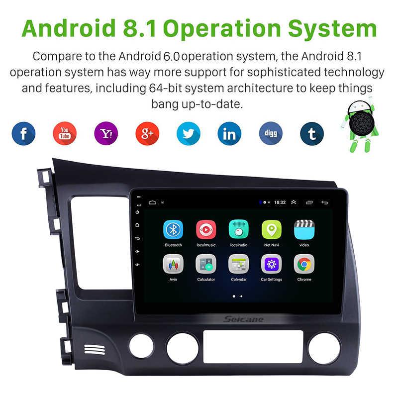 Seicane Android 8.1 do 2006 2007 2008 2009 2010 2011 Honda Civic nawigacja samochodowa gps radio stereo 4-Core odtwarzacz multimedialny jednostka