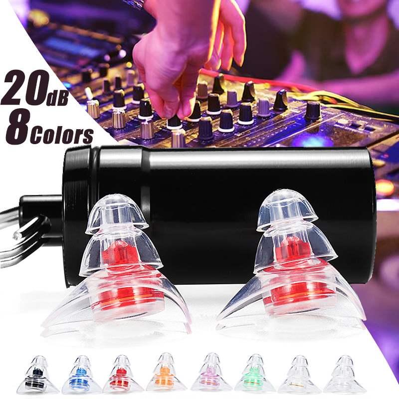 1 paire bouchons d'oreilles en Silicone souple Protection bouchons d'oreilles professionnels réutilisables réduction de bruit pour le sommeil DJ musiciens fête moto