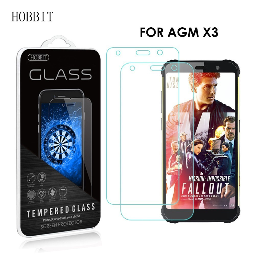 2Pack 0.3mm 2.5D 9H Clear Tempered Glass Screen Protector For AGM X3  Original Protective Anti-Scratch LCD Film For Agm X3 Cover
