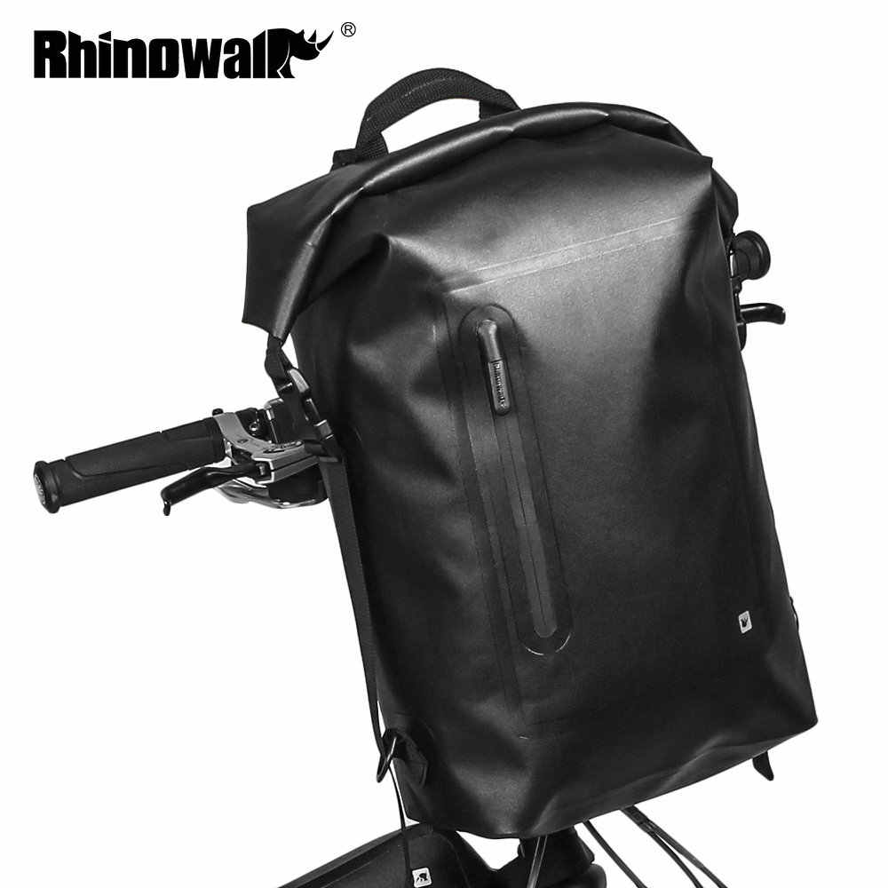 RHINOWALK Waterproof 20L Bicycle Backpack MTB Folding Bike Bicycle Front Handle Bar Bag Cycling Travel Riding bolso bicicleta