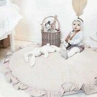 Round Baby Play Mats Cotton Child Carpet for Living Room Soft Sleeping Children's Rug Kids Play Rugs Floor Newborn Gym Playmat