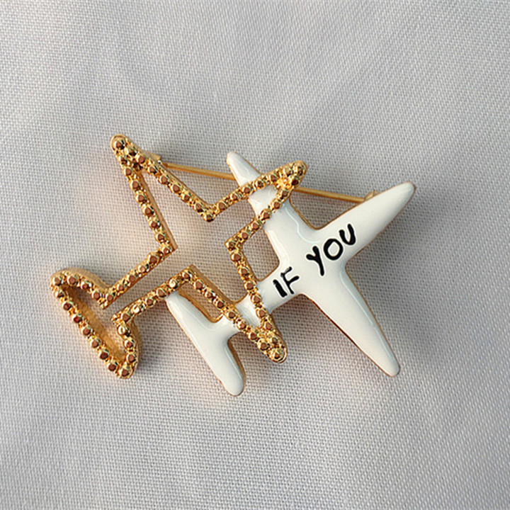 94fa2f89ee i-Remiel Fashion New Airplane Enamel Brooch Pin for Men's and Women's  Sweater Shirt Collar Aircraft Brooches Jewelry Accessories
