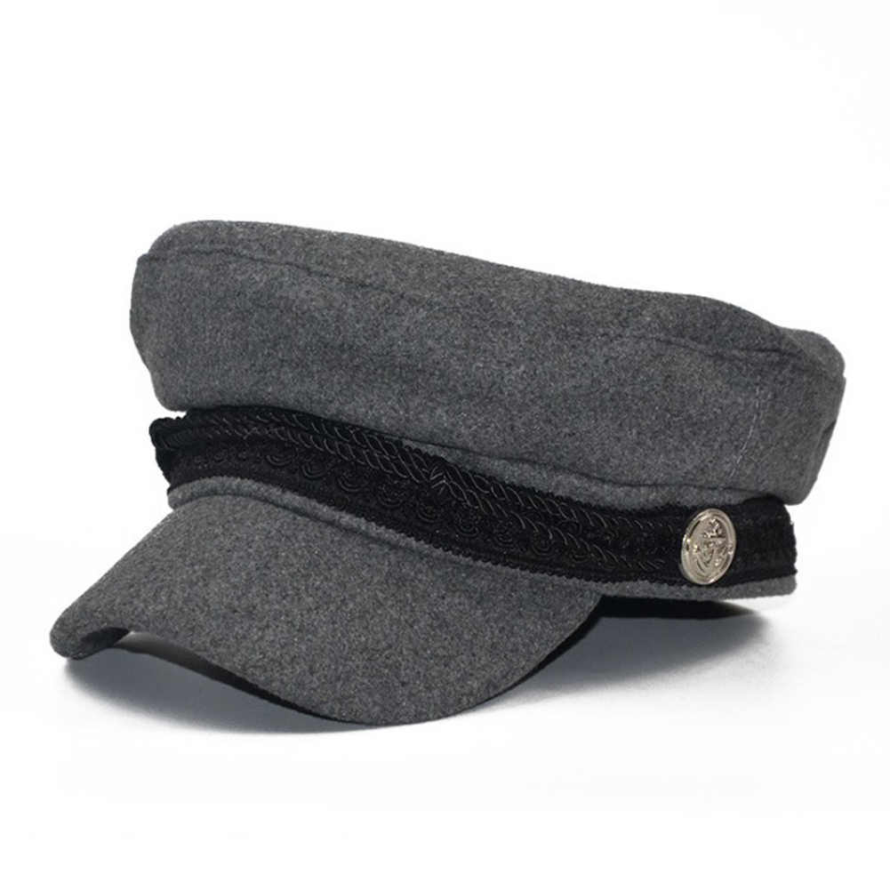 91934a5397d New Trend Winter Hats For Women French Style Wool Baker s Boy Military Flat Hat  Female Cool