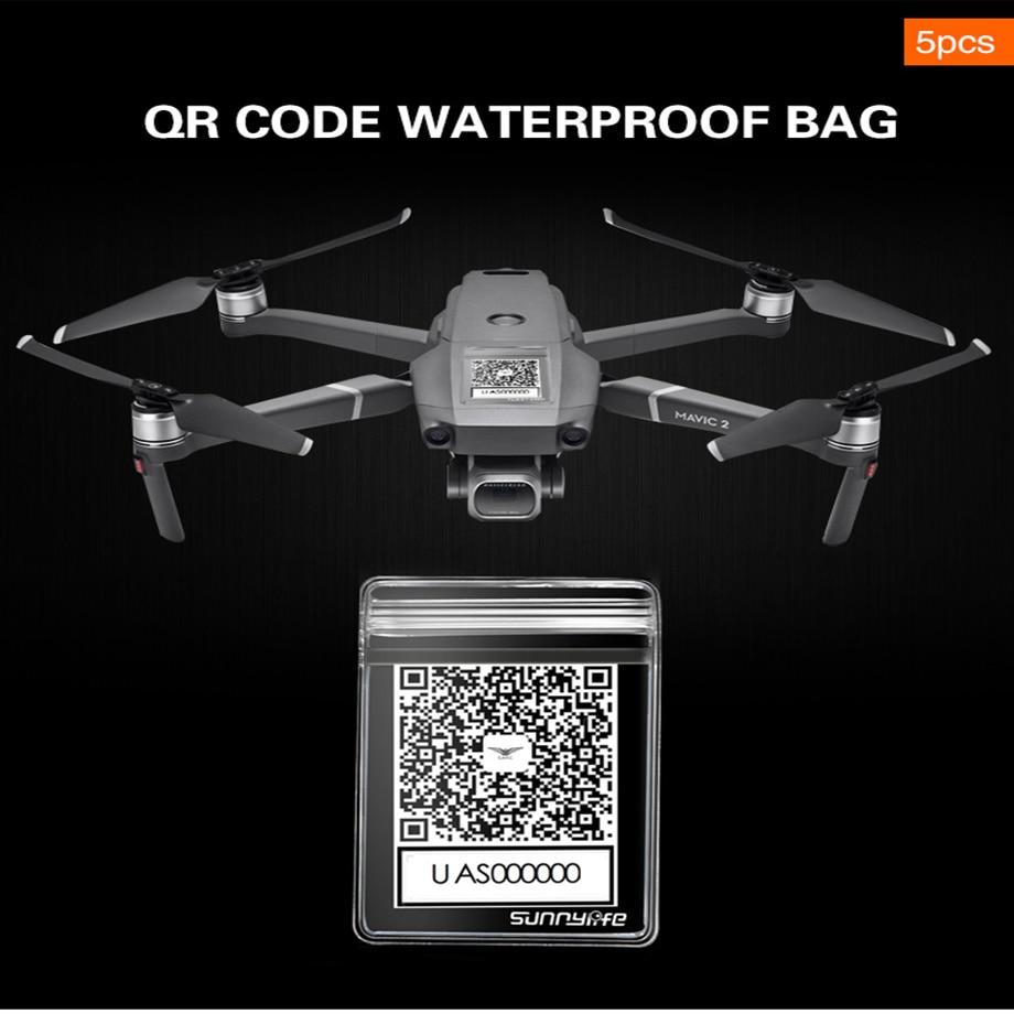 5×Waterproof Bag QR Code Telephone Sticker for MAVIC DJI 2//MAVIC PRO//AIR//SPARK