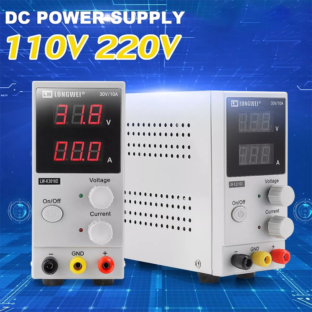 LED Digital Switching DC Power Supply Voltage Regulators Lab Repair Tool Adjustable LW K3010D 110V/220V 30V 10A Power Source