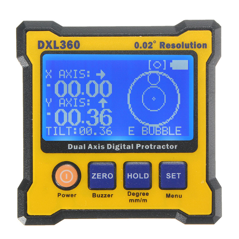 DXL360 Rechargeable Dual Axis Digital Angle Protractor Dual-axis Digital Display Level Gauge with 5 Side Magnetic BaseDXL360 Rechargeable Dual Axis Digital Angle Protractor Dual-axis Digital Display Level Gauge with 5 Side Magnetic Base