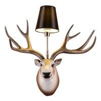 Сентябрь Nordic голова оленя светодиодный стильные настенные светильники Гостиная настенные светильники