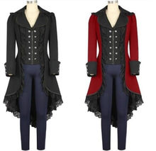 dd06125d0df Middle Ages Steam Punk Style Female Pirates Halloween Cosplay Costumes Victorian  Gothic Medieval Jacket Lace Woman Tuxedo