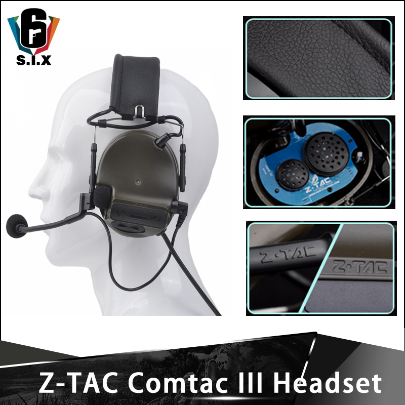 ZTAC Headset Peltor Comtac III Tactical Airsoft High Quality C3 Headphones Airsoft Paintball Noise Reduction Headset|Tactical Headsets & Accessories| |  - title=