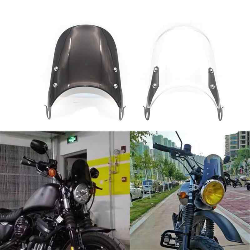 Motorcycle Windshield Airflow Adjustable Windscreen Wind Deflector For 5-7 Inch Headlights Universal Moto Accessories