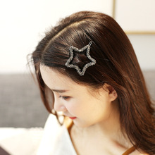 Sale Simple Rhinestones Round Star Shape Side Clip Geometry Women Hairpins Fruit Head wear Barrettes