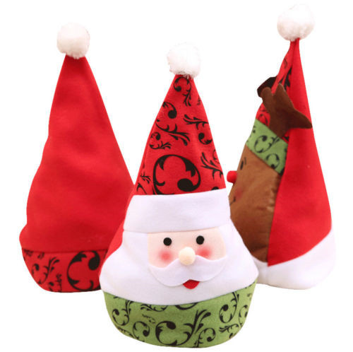 823ab52ba92 US $2.0 |Brand New Deluxe Father Baby Christmas Hat Xmas Santa Snowman Deer  Fancy Dress Costume Gift idea-in Christmas Hats from Home & Garden on ...