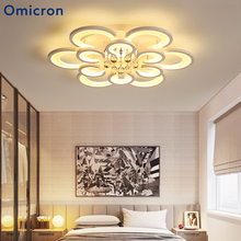 Omicron Modern Led Chandeliers Minimalism Crystal High Quality Lamps Power Saving For Living Room Bedroom Home Decor
