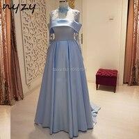 NYZY MW21 халат Вечер элегантное женское вечернее платье элегантное вечернее платье хиджаб мусульманский с длинным рукавом вечернее платье Си