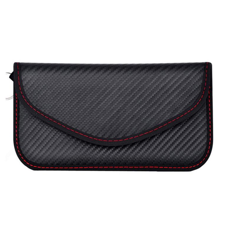 Signal Blocking Bag Cover Signal Blocker Case Faraday Cage Pouch For Keyless Car Keys Radiation Protection Cell Phone-in Key Case for Car from Automobiles & Motorcycles