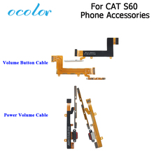 Ocolor cat s60 용 전원 버튼 볼륨 키 플렉스 케이블 cat s60 용 휴대 전화 액세서리 볼륨 키 업 다운 버튼 플렉스 케이블