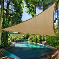 Summer Triangle Sun Shelter Sunshade Protection Outdoor Canopy Garden Patio Pool Shade Sail Awning Camping Picnic Tent Canvas