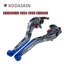 цена на KODASKIN Folding Extendable Brake Clutch Levers for Honda CBR900RR 1993-1999 CBR600 F2 F3 F4 F4I 1991-2007